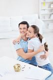Embracing couple Royalty Free Stock Photography