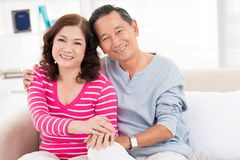 Senior tenderness royalty free stock photography
