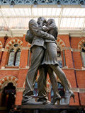 The Embracing Couple of St Pancras Royalty Free Stock Images