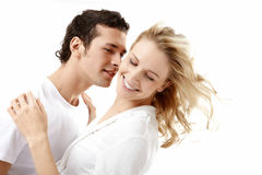 The embracing enamoured Royalty Free Stock Image