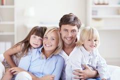 Embracing family Stock Photos