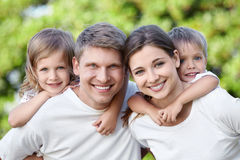 Embracing family Royalty Free Stock Photography