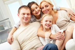 Embracing family Stock Images