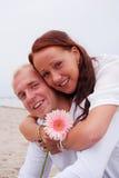 Embracing girlfriend Stock Photography