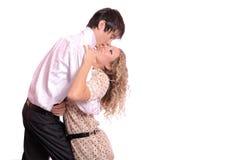 Embracing glamorous couple Stock Images