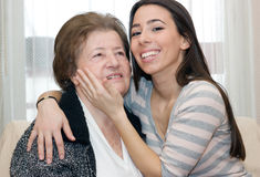 Embracing Granddaughter Royalty Free Stock Image