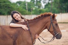 Embracing horse Royalty Free Stock Photos