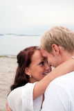 Embracing Lovers Stock Photography