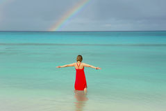 Embracing the Ocean Royalty Free Stock Photos