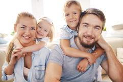Embracing parents Royalty Free Stock Image
