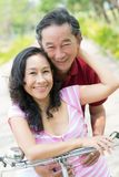 Embracing seniors Royalty Free Stock Image
