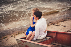 Embracing young couple Royalty Free Stock Photography