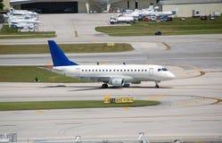 Embraer 170 reginal jet. Passenger jet made in Brazil Royalty Free Stock Photos