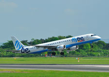 Embraer 195 Flybe Fotografia de Stock