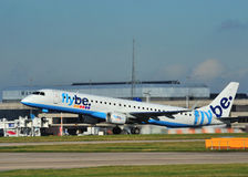 Embraer 195 Flybe Images stock