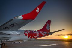 Embraer 190 aerei di Buta Airways Immagini Stock Libere da Diritti