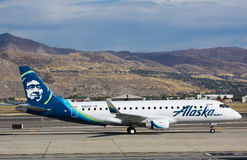 Embraer 175 Alaska Airlines Stock Photos