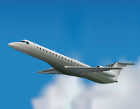 Embraer ERJ-145. In the sky Royalty Free Stock Photo