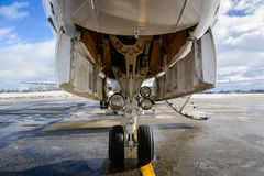 Embraer ERJ 145. Preparing to fly Stock Images