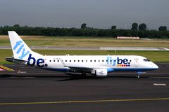 Embraer ERJ-175STD Flybe Royalty Free Stock Images