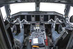 Modern airplane cockpit Royalty Free Stock Image