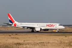 Embraer 190 from the french HOP Airline Royalty Free Stock Photo