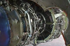 Embraer 195 jet engine Stock Images