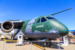 Embraer KC-390. A medium-sized military transport aircraft Royalty Free Stock Images