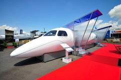 Embraer Legacy 500 demonstration model at Airshow Royalty Free Stock Photo
