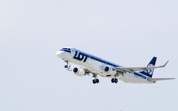 Embraer by LOT - Polish Airlines Stock Image