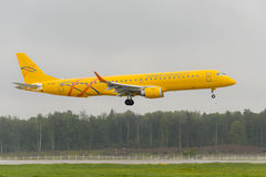 Embraer 195LR Saratov airlines landing Stock Image