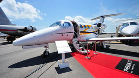 Embraer Phenom 100 in Singapore Airshow Royalty-vrije Stock Fotografie