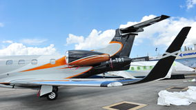 Embraer Phenom 300 business jet on display at Singapore Airshow 2012 Stock Images