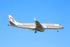 Embraer 190, Royal Air Maroc Royalty Free Stock Photos