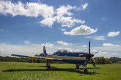 Embraer Super Tucano - brazylijczyka Aerospacial pomnik (MAB) Zdjęcia Stock