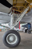 Embraer 195 undercarriage Stock Photo