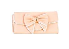 Embrague del bolso de las señoras aislado aislado en blanco Fotografía de archivo libre de regalías