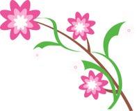 Embranchez-vous avec des fleurs Images stock