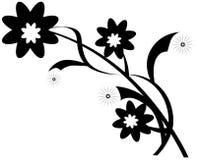 Embranchez-vous avec des fleurs Photo stock