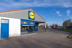 Embranchez-vous de la chaîne de supermarchés de LIDL Photographie stock