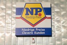 Embranchez-vous de la chaîne de supermarchés du NP Image libre de droits