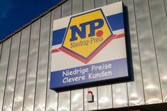 Embranchez-vous de la chaîne de supermarchés du NP Images stock