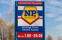 Embranchez-vous de la chaîne de supermarchés du NP Images libres de droits