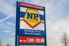Embranchez-vous de la chaîne de supermarchés du NP Photo stock