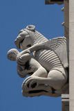 Adam in lion's claws. Embranchment of Adam and lion , sculpture on the bell tower of cathedral in Split, Croatia Stock Photos