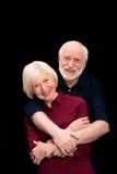 Embrassement aîné de couples Image stock