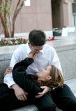 Embrassement de couples Images stock