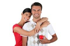 Embrassement de couples Photo stock