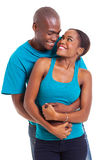 Embrassement de couples d'Afro photos stock