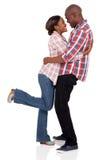 Embrassement de couples d'afro-américain Photo libre de droits